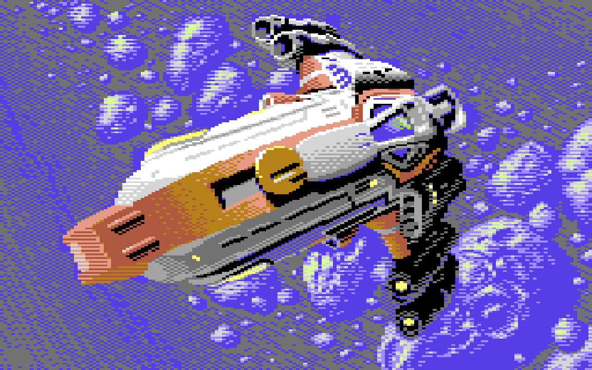 Galencia Fighter from Galencia and Galencia Khaos Sphere for the C64