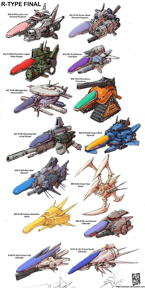 R-Type Final ships artwork by Sachsen.