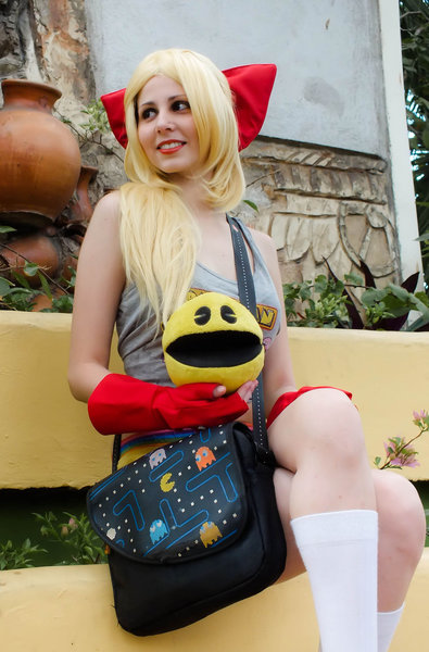 Gijinka Ms. Pac-Man by DollK 08