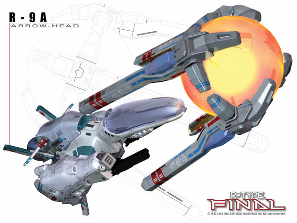 R-Type Final R-9A Arrowhead Wallpaper 1024x768