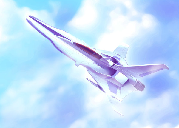 Gradius V Vic Viper drawn by Tomo (Yuugure)
