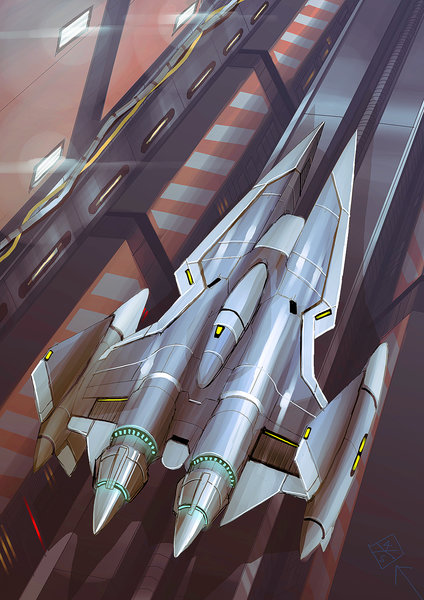 Vic Viper from Gradius drawn by 4XS Master Race.