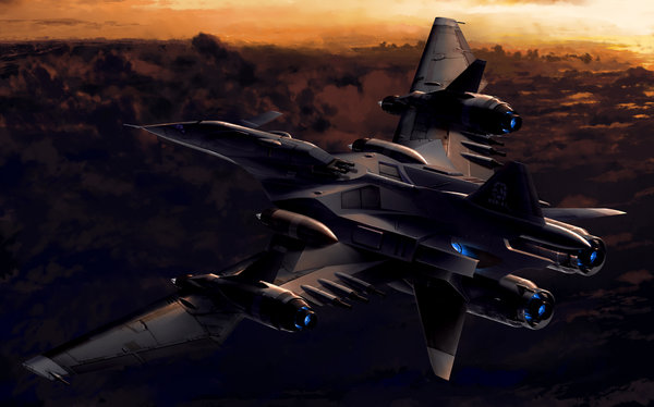 Raiden Fighters Jet XTB-1 drawn by Nemutai (fsn19123).
