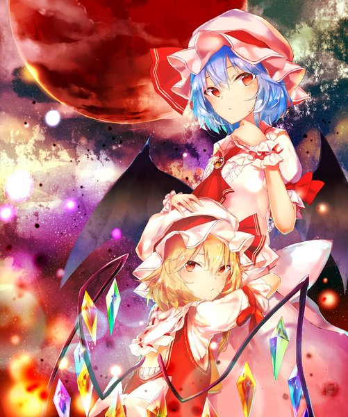 Flandre Scarlet and Remilia Scarlet drawn by Sakusyo