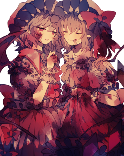 Flandre Scarlet and Remilia Scarlet drawn by Wiriam07