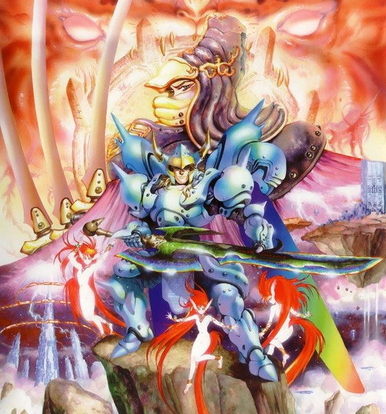 Winds of Thunder (PC Engine). Artwork by Masamune Shirow.