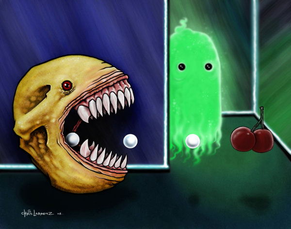 Nightmare Pac-Man drawn by Chris Labrenz