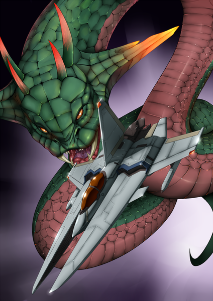 Vic Viper Gradius Konami and Salamander Game drawn by Vuccha