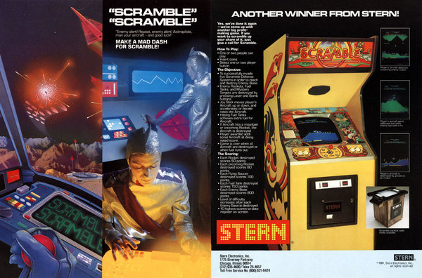 Scramble Arcade Flyer 01